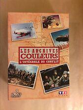 COFFRET 8 DVD / LA 2EME GUERRE MONDIALE / LES ARCHIVES COULEURS / TRES BON ETAT