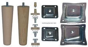Single Modern 150mm Beech / Oak Tapered Leg - Choose Wood and Fixing Type