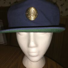 Vintage Shell Oil Gas Hat Cap Metal Logo VTG BTS Blue Station Service