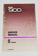 Saab 900 Brakes Service Manual M 1979-86 Mechanic, Collector
