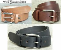Real leather belt genuine full grain buff hide new rustic pull up leather gift