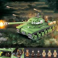 1068pcs Militär Panzer Tank Modell Bausteine mit WW2 Soldat Figuren Spielzeug