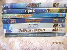 Lot of 7 Children's, Family DVDs Animation, Adventure & Comedy Films, G & PG