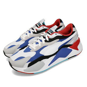 Puma RS-X3 Puzzle Running System White Blue Red Black Men Unisex Shoes 371570-05