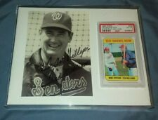 TED WILLIAMS AUTOGRAPHED 8X5 Photo Ins.to longtime Chicago radio/tv personality