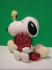 Lenox Peanuts Snoopy Love with Woodstock New in Box with Coa Valentines Day