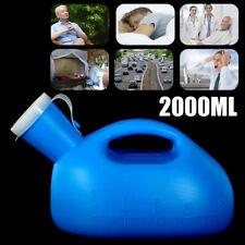2000ML-Plastic Extérieur Urine Bouteille W/ Couvercle Homme Pipi Urinoir Storage
