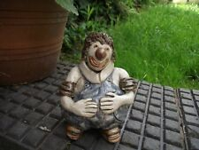 Coulrophobics Beware! Vtg Hand Crafted Pottery Clown Figurine Sculpture