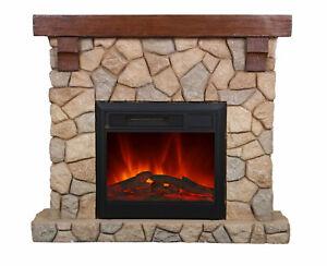 El Fuego Elektrokamin Dekokamin Kamin Ofen Heizer m. FB Modell Villach AY623