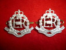 Corps of Royal Miltary Provost QC Officer's Silver Plated Collar Badge Pair, UK