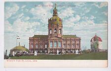 1904 WORLD'S FAIR ST. LOUIS MO VIEW OF DAS DEUTSCHE HAUS GERMAN BUILDING
