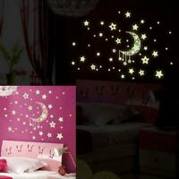 zu hause mond und sterne im dunkeln leuchten schlafzimmer mauer - aufkleber