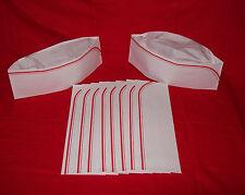 10 New Red 50`s Soda Jerk Ice Cream Paper Party Overseas Sailor Costume Hat Cap