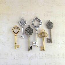 Christmas skeleton keys New old look 6 metal antique vintage style three colors