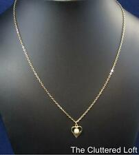 Cultured Pearl on Heart MY LOVE Goldtone Necklace Vintage Sarah Coventry RARE