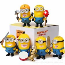 6PCS Despicable Me 2 Minions Action Figures Doll Cake Topper Decor Figurines Toy
