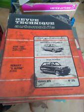 revue technique automobile N° 375 RENAULT 5 ALPINE