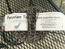 NEW Skein Peruvian Tweed Un-dyed Gray Multi 100% Superfine Alpaca Yarn 600yd 8oz