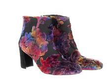 Stuart Weitzman Women's Bacari Bootie Ankle Boots Velvet Brocade Floral  8.5