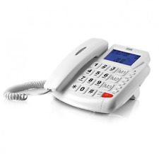 ITEK BIG BUTTON HANDS FREE LCD TELEPHONE WITH CALLER ID WHITE - 62002