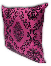 Pink Home Decorate Room Sofa Flock Print Cushion Cover Pillow Case 43cm x 43cm