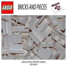 LEGO 4865 2X1X1 WHITE TILE PANEL BRICK 25 PACK FRIENDS, CITY, STAR WARS, CREATOR