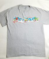 Peanuts unisex t-shirt  medium Christmas Winter Music Snoopy Charlie Brown Gray