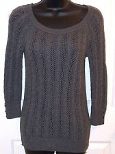 American Eagle Outfitters Sweater Pullover Gray Cable Knit  XS Extra Small