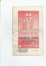 Lincoln City Home Teams Football FA Cup Fixture Programmes
