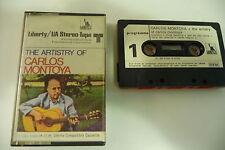 CARLOS MONTOYA K7 AUDIO TAPE CASSETTE. THE ARTISTRY OF CARLOS MONTOYA.