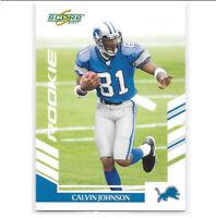Calvin Johnson 2007 Score Rookie Card RC Detroit Lions #351