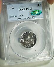 1937 U.S. Buffalo Nickel - PROOF 66 (PCGS, CAC)  stk#4508