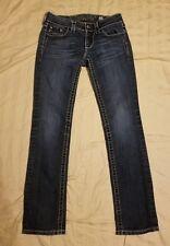 Miss Me JE5397TR Straight Dark Wash Blue Jeans Womens 25 Inseam 31
