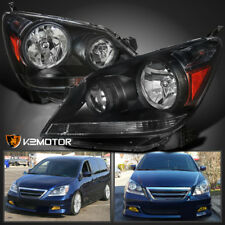 For 2005 2007 Honda Odyssey Black Headlights Head Lamps Left Right Fits
