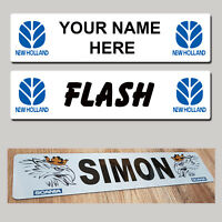 New Holland Tractor  / Trucker NAME PLATES Sign Custom Made Combine Truck Show