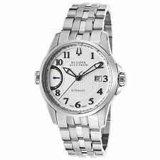 New Accutron by Bulova 63B161 Men's Calibrator Automatic SS Silver-Tone Watch