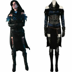 Wild Hunt Yennefer Cosplay Costume Top Skirt Outfits Halloween Suit Full Set