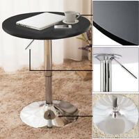Pub Bar Table 360° Swivel Wood Top Ware-Resistant Height Adjustable Kitchen