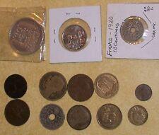 OLD FRENCH LUCERNAE FRANCE COIN 1909 1911 1918 1924 WW1 WW2 1933 20 FRANC CROWN