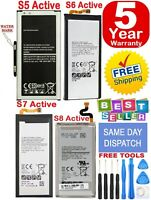 New Original OEM For Samsung Galaxy S5,S6.S7,S8 Active Genuine Battery Free Ship