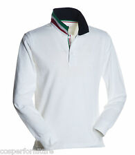 Polo Manica lunga Payper Long Nation in cotone Uomo 3xl Bianco