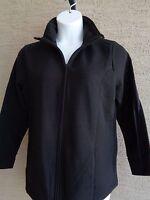 New Just My Size Cotton Blend Fleece Lined Zip Front Mock Neck Jacket 1X Black