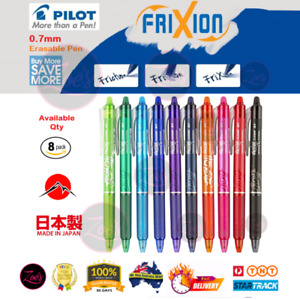 PILOT Frixion Erasable Gel Ink Pen 0.7 Colour JAPAN Clicker Fine Art Ballpoint