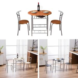 Practical Modern Compact 2 Seater Breakfast Dining Table and Chairs 3 Colors UK
