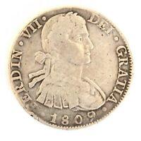 1809 FERDIN VII DEI GRATIA Mexico 8 Reales Silver Coin SPANISH COLONY  FREE SHIP