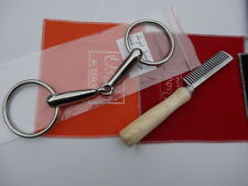 """5"""" Single Jointed lOOSE Ring Horse Bit - Stainless Steel +Aluminium Comb"""