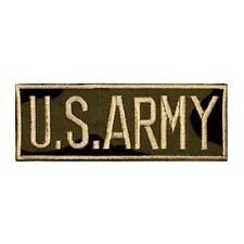 ID 0164 Name Tag US Army Patch Uniform Embroidered Iron On Applique