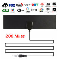 [200Miles] Black Indoor Digital TV HDTV Antenna [2019 Latest] UHF/VHF/1080p