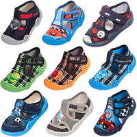Boys canvas shoes slippers casual trainers sandals baby toddler 3 4 5 6 7 8UK