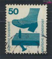 BRD 700A Re mit blaugrüner Zählnummer gestempelt 1971 Unfallverhütu (9233499